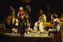 A JOVIAL CREW by Richard Brome in a new version by Stephen Jeffreys design: Fotini Dimou lighting: Wayne Dowdeswell director: Max Stafford-Clark  front left: Ron Cook (Springlove) Royal Shakespeare Co...