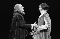 A FAIR QUARREL by Thomas Middleton & William Rowley design: Hayden Griffin lighting: Andy Phillips director: William Gaskill ~Dermot Crowley (Physician), Harriet Walter (Jane)Olivier Theatre, National...
