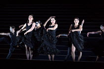 front, l-r: Jacquelyn Stucker (Frasquita), Anna Goryachova (Carmen), Aigul Akhmetshina (Mercedes) in CARMEN  by Bizet opening at The Royal Opera, Covent Garden, London WC2 on 06/02/2018 ~ ~in the crit...
