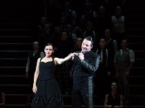 Anna Goryachova (Carmen), Kostas Smoriginas (Escamillo) in CARMEN  by Bizet opening at The Royal Opera, Covent Garden, London WC2 on 06/02/2018 ~~in the critical edition by Michael Rot  adapted by Con...