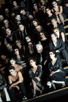 chorus and dancers in CARMEN  by Bizet opening at The Royal Opera, Covent Garden, London WC2 on 06/02/2018 ~ ~in the critical edition by Michael Rot  adapted by Constantinos Carydis for Frankfurt Oper...