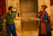 Naeem Hayat (Aurangzeb), Angela Griffin (Nourmahal - The Empress) in THE CAPTIVE QUEEN opening at the Sam Wanamaker Playhouse, Shakespeare's Globe, London SE1 on 07/02/2018  a re-imagining of 'Aureng-...