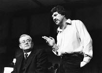 STAGE STRUCK by Simon Gray design: Carl Toms lighting: Mick Hughes director: Stephen Hollis  l-r: Nigel Stock (Widdecombe), Alan Bates (Robert) Vaudeville Theatre, London WC2 20/11/1979 (C) Donald Co...
