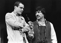 STAGE STRUCK by Simon Gray design: Carl Toms lighting: Mick Hughes director: Stephen Hollis  l-r: Andrew Sharp (Herman), Alan Bates (Robert) Vaudeville Theatre, London WC2 20/11/1979 (C) Donald Coope...