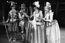 l-r: Philip Sayer (Sir Petronel Flash), Richard O'Brien (Quicksilver), Anita Dobson (Gertrude), Belinda Sinclair (Sindefy) in EASTWARD HO! by Ben Jonson, George Chapman & John Marston which opened at...