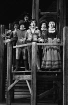 centre: Mark Rylance (Slitgut / Poncer) in EASTWARD HO! by Ben Jonson, George Chapman & John Marston which opened at the Mermaid Theatre, London EC4 on 07/07/1981  a musical adaptation music: Nick Bi...
