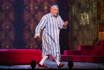 Andrew Shore (The Lord Chancellor) in IOLANTHE by Gilbert & Sullivan opening at English National Opera (ENO), London Coliseum WC2 on 13/02/2018   music: Arthur Sullivan) libretto: William Gilbert cond...