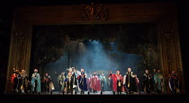 the worse for wear, boisterous Peers in IOLANTHE by Gilbert & Sullivan opening at English National Opera (ENO), London Coliseum WC2 on 13/02/2018    music: Arthur Sullivan  libretto: William Gilbert...
