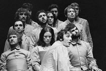 THE DUCHESS OF MALFI by John Webster design: William Dudley lighting: Andy Phillips director: Peter Gill ~front row, l-r: Malcolm Tierney (Cardinal), Judy Parfitt (The Duchess of Malfi), (??? / tbc),...