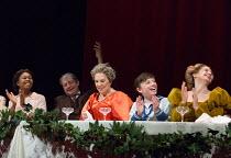 FANNY & ALEXANDER  by Ingmar Bergman  adapted by Stephen Beresford set design: Tom Pye costumes: Laura Hopkins lighting: Mark Henderson director: Max Webster   l-r: Gloria Obianyo (Petra Ekdahl), Tho...