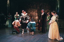 THE BROKEN HEART by John Ford design: Tom Piper lighting: Rick Fisher director: Michael Boyd  centre: Ewan Hooper (Amyclas - in black) front right: Olivia Williams (Calantha) Royal Shakespeare Compan...