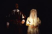 THE BROKEN HEART by John Ford design: Tom Piper lighting: Rick Fisher director: Michael Boyd  Iain Glen (Orgilus), Emma Fielding (Penthea) Royal Shakespeare Company (RSC), Swan Theatre, Stratford-upo...