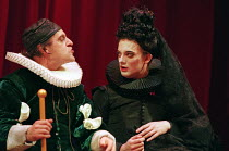 THE DEVIL IS AN ASS by Ben Jonson set design: Bunny Christie costumes: Laura Hopkins director: Matthew Warchus l-r: David Troughton (Fitzdottrel), Douglas Henshall (Wittipol - disguised as a Spanish l...