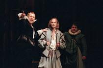 THE DEVIL IS AN ASS by Ben Jonson set design: Bunny Christie costumes: Laura Hopkins director: Matthew Warchus ~left: John Nettles (Merecraft) centre: John Dougall (Pug)Royal Shakespeare Company (RSC)...
