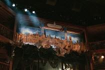 THE DEVIL IS AN ASS by Ben Jonson set design: Bunny Christie costumes: Laura Hopkins director: Matthew Warchus ~model of London (Londinium) skyline, lights, seating galleriesRoyal Shakespeare Company...