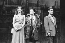 BLOOD BROTHERS book, music & lyrics by Willy Russell design: Marty Flood lighting: Jon Swain director: Bob Tomson  l-r: Annette Ekblom (Linda), Con O'Neill (Mickey Johnstone), Robert Locke (Edward Ly...