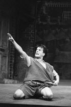 BLOOD BROTHERS book, music & lyrics by Willy Russell design: Marty Flood lighting: Jon Swain director: Bob Tomson  Con O'Neill (Mickey Johnstone) Albery Theatre, London WC2 28/07/1988 (c) Donald Co...