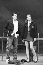 BLOOD BROTHERS book, music & lyrics by Willy Russell design: Marty Flood lighting: Jon Swain director: Bob Tomson ~Con O'Neill (Mickey Johnstone), Annette Ekblom (Linda)~Albery Theatre, London WC2 28/...