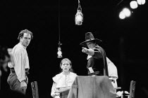 THE CRUCIBLE by Arthur Miller design: Bob Crowley lighting: Michael Calf directors: Barry Kyle & Nick Hamm  l-r: Alun Armstrong (John Proctor), Lynn Farleigh (Elizabeth Proctor), Albie Woodington (Eze...