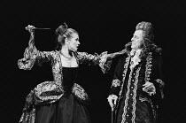VENICE PRESERV'D or 'A Plot Discovered' by Thomas Otway design: Alison Chitty lighting: Stephen Wentworth director: Peter Gill  Stephanie Beacham (Aquilina), Hugh Paddick (Antonio) Lyttelton Theatre,...