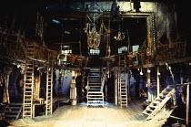 THE BEGGAR'S OPERA by John Gay music arrangement: Ilona Sekacz design: Kendra Ullyart lighting: David Hersey director: John Caird  stage, set, full, whole, London, ladders, steps, split level Royal S...