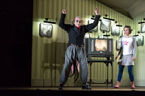 Harry Nicoll (Mr Bobo), Mary Bevan (Coraline) in the world premiere of CORALINE opening at the Barbican Theatre, London EC2 on 29/03/2018  a Royal Opera production music: Mark-Anthony Turnage librett...