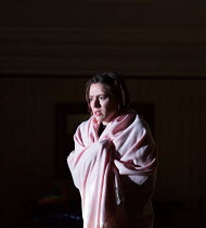 trapped and scared: Mary Bevan (Coraline) in the world premiere of CORALINE opening at the Barbican Theatre, London EC2 on 29/03/2018  a Royal Opera production music: Mark-Anthony Turnage libretto: R...