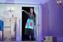 Kitty Whateley (Other Mother - with button eyes) in the world premiere of CORALINE opening at the Barbican Theatre, London EC2 on 29/03/2018  a Royal Opera production music: Mark-Anthony Turnage libr...