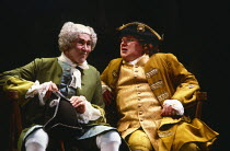 THE CLANDESTINE MARRIAGE by David Garrick and George Colman design: Tanya Moiseiwitsch lighting: Michael Northern director: Anthony Quayle  l-r: Anthony Quayle (as Lord Ogleby), Roy Kinnear (as Mr St...