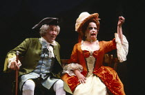 THE CLANDESTINE MARRIAGE by David Garrick and George Colman design: Tanya Moiseiwitsch lighting: Michael Northern director: Anthony Quayle  Anthony Quayle (as Lord Ogleby), Joyce Redman (Mrs. Heidelb...