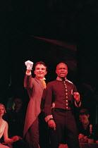 THE THREEPENNY OPERA 'Die Dreigroschenoper' music: Kurt Weill conductor: Alison Berry text: Berthold Brecht after 'The Beggar's Opera' by John Gay design: Jason Denvir  l-r: Laurence Taylor (Macheath...