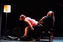 DON JUAN by Moliere design: Maria Geber lighting: Ellen Ruge directed & choreographed by Mats Ek  Don Juan is pleasured by Charlotte: Lena Nilsson (Charlotte), Mikael Persbrandt (Don Juan) ** a large...