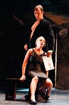 DON JUAN by Moliere design: Maria Geber lighting: Ellen Ruge directed & choreographed by Mats Ek  Nina Togner Fex (Donna Elvira), Mikael Persbrandt (Don Juan) ** a larger file with improved colour ba...