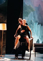 DON JUAN by Moliere design: Maria Geber lighting: Ellen Ruge directed & choreographed by Mats Ek  sex on the TV: Nina Togner Fex (Donna Elvira), Mikael Persbrandt (Don Juan) ** a larger file with imp...