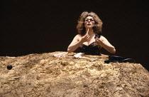 HAPPY DAYS by Samuel Beckett design: Jocelyn Herbert lighting: Jack Raby director: Samuel Beckett  Billie Whitelaw (Winnie) Royal Court Theatre, London SW1 07/06/1979 (c) Donald Cooper/Photostage pho...