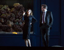 Barbara Hannigan (Isabel), Peter Hoare (Mortimer) in LESSONS IN LOVE AND VIOLENCE by George Benjamin and Martin Crimp opening at The Royal Opera, Covent Garden, London WC2 on 10/05/2018   music and co...