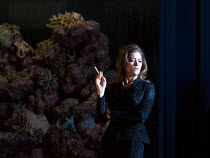 Barbara Hannigan (Isabel) in LESSONS IN LOVE AND VIOLENCE by George Benjamin and Martin Crimp opening at The Royal Opera, Covent Garden, London WC2 on 10/05/2018  music and conductor: George Benjamin...