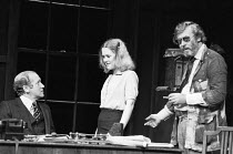 INADMISSIBLE EVIDENCE by John Osborne design: John Gunter lighting: Jack Raby director: John Osborne l-r: Nicol Williamson (Bill Maitland), Rowena Roberts (Joy), John Osborne - author & directorRoyal...