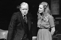 INADMISSIBLE EVIDENCE by John Osborne design: John Gunter lighting: Jack Raby director: John Osborne ~Nicol Williamson (Bill Maitland), Deborah Norton (Shirley)Royal Court Theatre, London SW1 12/08/19...