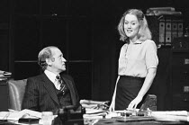 INADMISSIBLE EVIDENCE by John Osborne design: John Gunter lighting: Jack Raby director: John Osborne ~Nicol Williamson (Bill Maitland), Rowena Roberts (Joy)Royal Court Theatre, London SW1 12/08/1978(c...