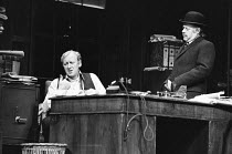 INADMISSIBLE EVIDENCE by John Osborne design: John Gunter lighting: Jack Raby director: John Osborne ~l-r: Nicol Williamson (Bill Maitland), Clive Swift (Hudson)Royal Court Theatre, London SW1 12/08/1...