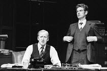 INADMISSIBLE EVIDENCE by John Osborne design: John Gunter lighting: Jack Raby director: John Osborne ~l-r: Nicol Williamson (Bill Maitland), Paul Greenwood (Jones)Royal Court Theatre, London SW1 12/08...