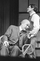 LONG DAY'S JOURNEY INTO NIGHT by Eugene O'Neill design: Michael Annals lighting: Robert Bryan director: Michael Blakemore  l-r: Laurence Olivier (James Tyrone), Denis Quilley (Jamie / James Tyrone Jr....
