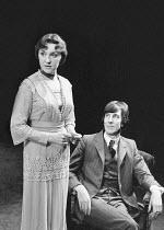 EXILES by James Joyce set design: Eileen Diss costumes: Robin Fraser Paye lighting: David Adams director: Harold Pinter  Vivien Merchant (Bertha). John Wood (Richard Rowan) Mermaid Theatre, London EC...