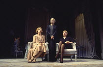 THREE TALL WOMEN by Edward Albee set design: Carl Toms costumes: Tom Rand lighting: Jenny Cane director: Anthony Page ~l-r: Anastasia Hille, Maggie Smith, Frances de la Tour~Wyndham's Theatre, London...