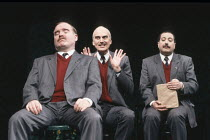TRAVELS WITH MY AUNT by Graham Greene design: Stewart Laing lighting: Gerry Jenkinson directors: Giles Havergal & Jon Pope  l-r: Patrick Hannaway, Giles Havergal (Henry Pulling / Augusta Bertram), De...