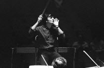 Claudio Abbado (Italian conductor - 1933-2014) rehearsing the London Symphony Orchestra (LSO) ~Royal Festival Hall, London 04/1972(c) Donald Cooper/Photostage photos@photostage.co.uk ref/BW-064-30