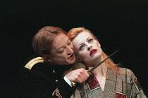 THE DUCHESS OF MALFI by John Webster design: Nick Ormerod director: Declan Donnellan ~Scott Handy (Ferdinand), Anastasia Hille (The Duchess of Malfi) Cheek by Jowl / Wyndham's Theatre, London WC2 02/0...