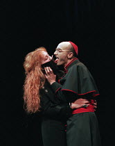 THE DUCHESS OF MALFI by John Webster design: Nick Ormerod director: Declan Donnellan ~Nicola Redmond (Julia), Paul Brennan (Cardinal)Cheek by Jowl / Wyndham's Theatre, London WC2 02/01/1996(c) Donald...