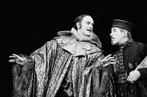 MEASURE FOR MEASURE by Shakespeare design: Maria Bjornson lighting: John Bradley & Keith Hack director: Keith Hack  l-r: Barrie Ingham (Duke Vincentio), David Waller (Escalus) Royal Shakespeare Theat...